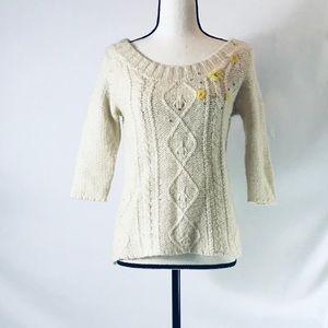 Free People 3/4 sleeve Sweater